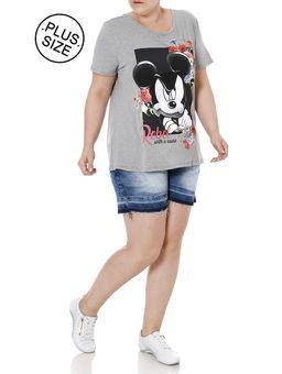Blusa-Manga-Curta-Plus-Size-Feminina-Disney-Cinza-EGG