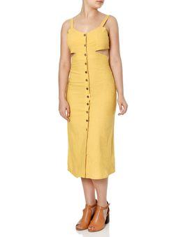 Vestido-Midi-Feminino-Autentique-Amarelo