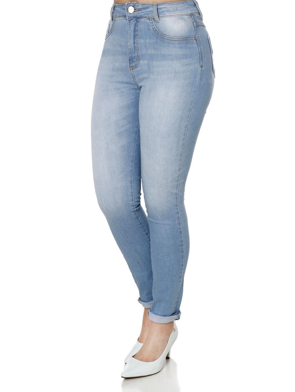 80ace774d Calça Jeans Feminina Sawary Azul - Lojas Pompeia