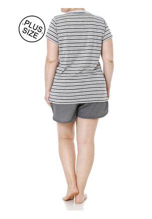 Pijama-Curto-Plus-Size-Feminino-Cinza-G2