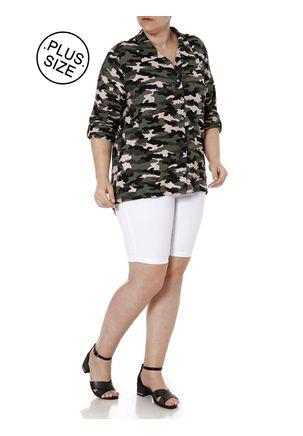 Camisa-Manga-3-4-Camuflada-Plus-Size-Feminina-Autentique-Verde-G2