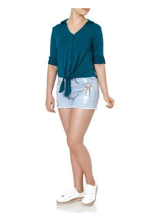Camisa-Manga-3-4-Feminina-Autentique-Verde-P