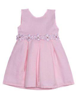 Vestido-Infantil-Para-Bebe-Menina---Rosa-P