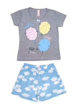 Pijama-Curto-Juvenil-Para-Menina---Cinza-azul-10