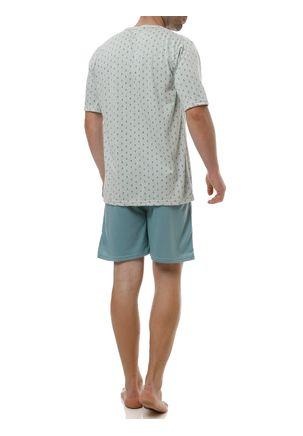 Pijama-Curto-Masculino-Verde-P