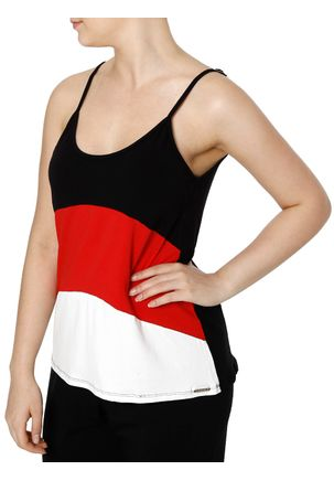 Blusa Regata Feminina Autentique Preto vermelho 0ba0c4f2f51
