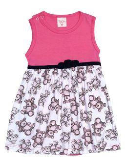 2be6ef222e Vestido Infantil Para Bebê Menina - Rosa