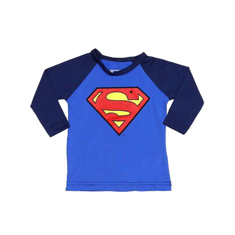Camiseta Proteção UV Superman Infantil para Bebê Menino - Azul - Lojas  Pompeia 09db78d759a96