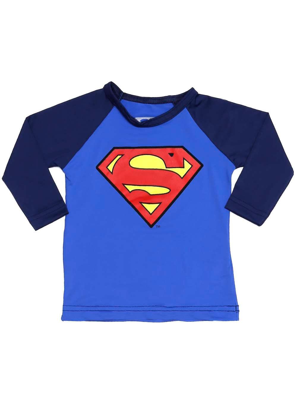 5b0dc3918 Camiseta Proteção UV Superman Infantil para Bebê Menino - Azul ...