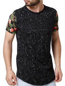 Camiseta-Manga-Curta-Alongada-Masculina-Preto-P