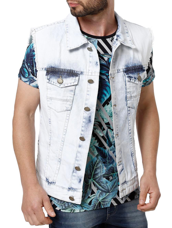 Colete Jeans Masculino Mokkai Azul - Lojas Pompeia e3f75c9ec3d