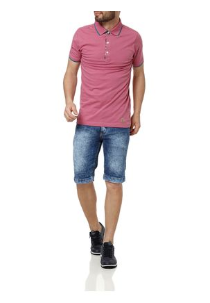 Polo-Manga-Curta-Masculina-Rose-P