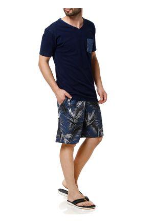 Camiseta-Manga-Curta-Masculina-Azul-Marinho-P
