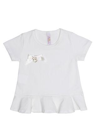 Blusa-Manga-Curta-Infantil-Para-Menina---Off-White-1