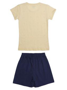 Pijama-Curto-Infantil-Para-Menina---Amarelo-azul-6