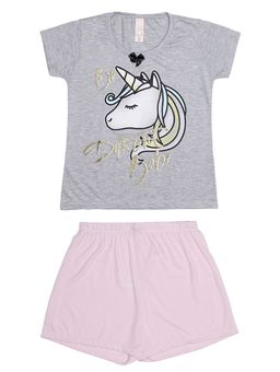 Pijama-Curto-Juvenil-Para-Menina---Cinza-10