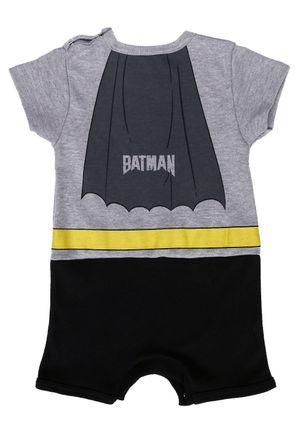 Macacao-Batman-Infantil-Para-Bebe-Menino---Cinza-preto-P