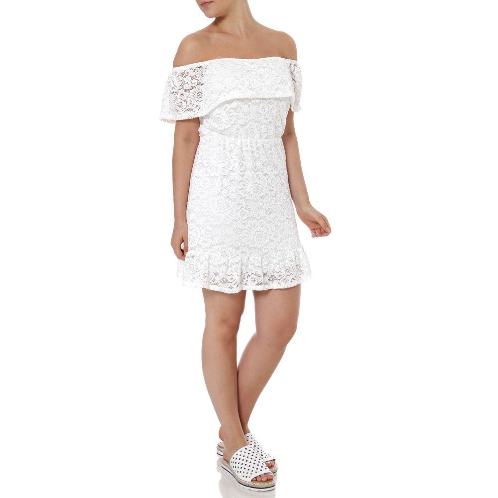 80fb1e1aba Vestido Ciganinha Feminino Autentique Off White - Lojas Pompeia