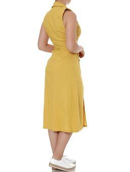 Vestido-Linho-Feminino-Autentique-Amarelo