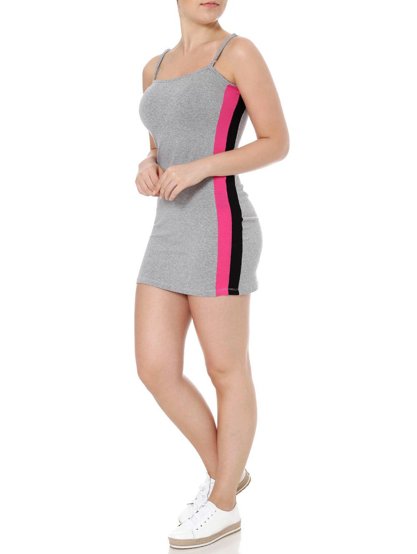 fd14673d94 Vestido Curto Feminino Cinza - Lojas Pompeia