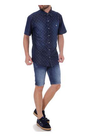 Bermuda-Jeans-Slim-Masculina-Gangster-Azul