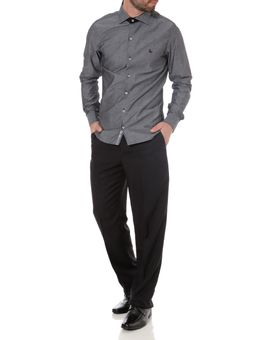 Camisa-Slim-Manga-Longa-Masculina-Cinza