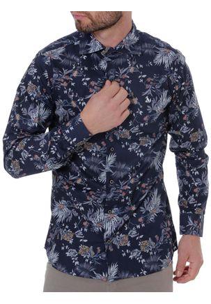Camisa-Manga-Longa-Masculina-Azul-Marinho-1