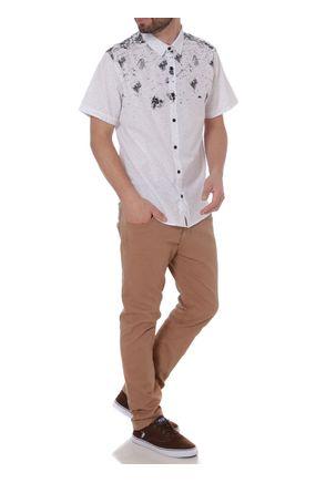 Camisa-Manga-Curta-Masculina-Branco-P