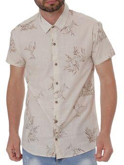 Camisa-Manga-Curta-Masculina-Bege-P