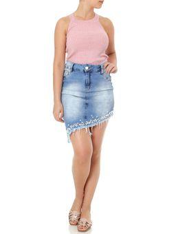 Saia-Curta-Jeans-Feminina-Azul-36