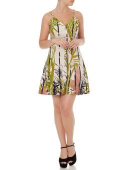 Vestido-Linho-Feminino-Autentique-Verde-marrom-P