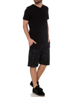 Camiseta-Manga-Curta-Masculina-Habana-Preto-P