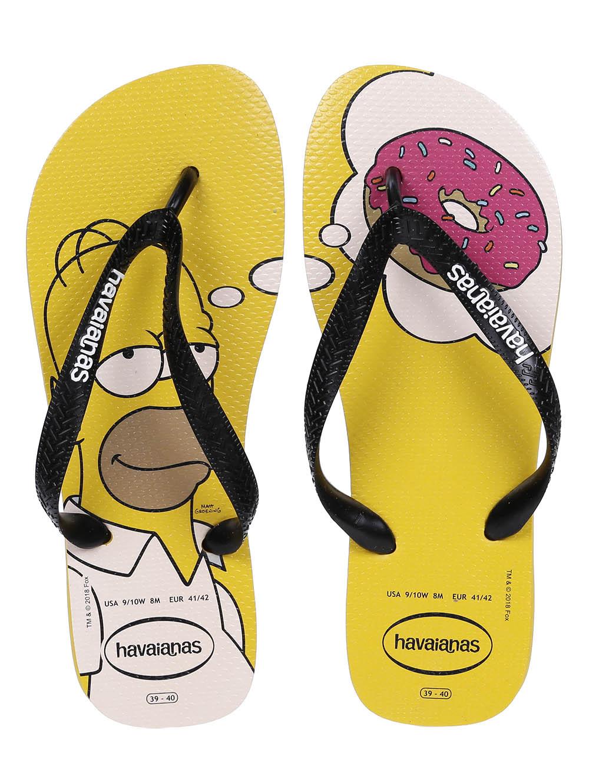 0f7e32801 Chinelo Masculino Havaianas Simpsons Amarelo - Lojas Pompeia
