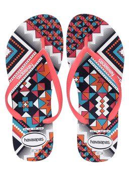 Chinelo-Feminino-Havaianas-Slim-Tribal-Branco-laranja-35-36