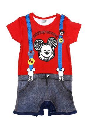 Macacao-Disney-Infantil-Para-Bebe-Menino---Vermelho-P