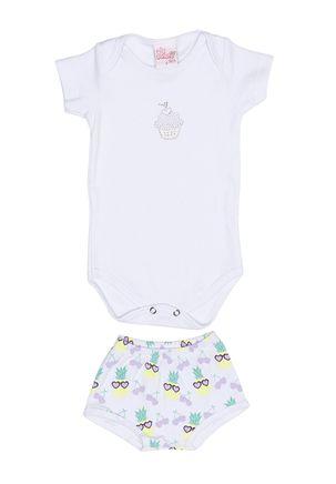 Conjunto-Infantil-para-Bebe-Menina---Branco