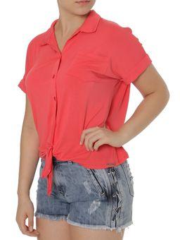 Camisa-Manga-Curta-Feminina-Autentique-Coral-P