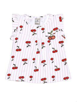 Blusa-Manga-Curta-Infantil-Para-Menina---Branco-lilas-1