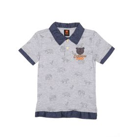 d5ad8a838b Polo-Manga-Curta-Infantil-Para-Menino---Cinza-