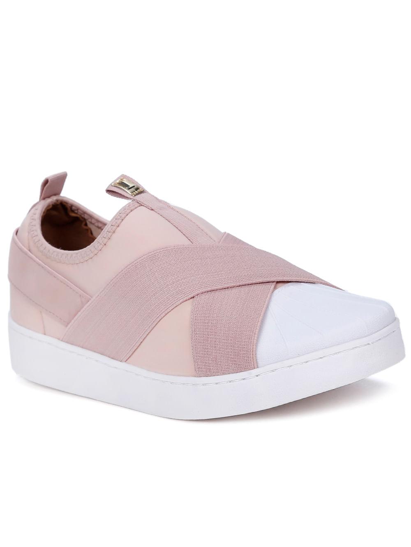c0d707fc4 Tênis Casual Feminino Vizzano Rosa branco - Lojas Pompeia