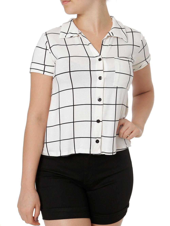 27ff2c1b6 Camisa Manga Curta Feminina Autentique Off White preto - Lojas Pompeia