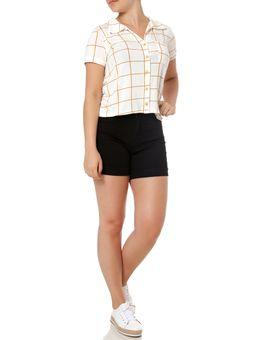 Camisa-Manga-Curta-Feminina-Autentique-Off-White-laranja-P