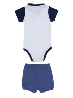 Conjunto-Infantil-Para-Bebe-Menino---Branco-azul-Marinho-P