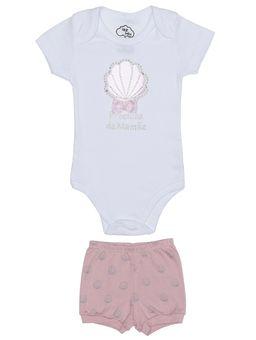 Conjunto-Infantil-Para-Bebe-Menina---Branco-rose-P