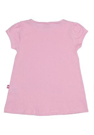 Blusa-Manga-Curta-Barbie-Infantil-Para-Menina---Rosa-6