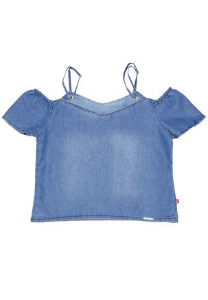 Blusa-Manga-Curta-Jeans-Juvenil-Para-Menina---Azul-16