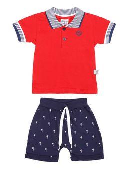 Conjunto-Infantil-Para-Bebe-Menino---Vermelho-azul-Marinho-M