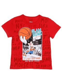 Camiseta-Manga-Curta-Disney-Infantil-Para-Menino---Vermelho-1