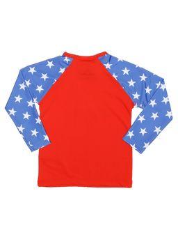 Blusa-com-Protecao-UV-Infantil-para-Menina---Vermelho