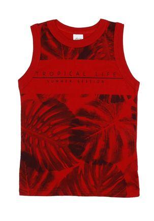 Camiseta-Regata-Infantil-Para-Menino---Vermelho-6
